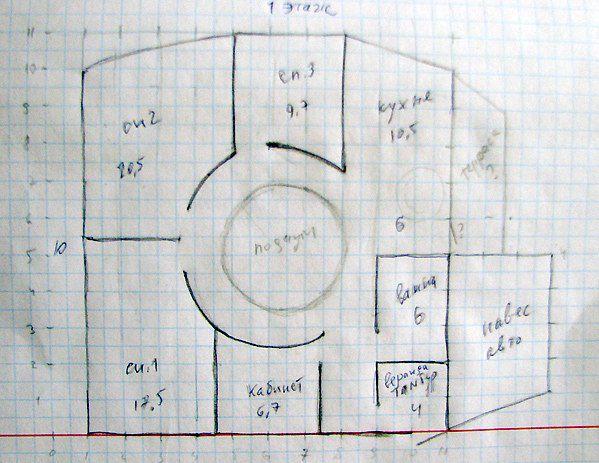 Рисуем план-схему дома