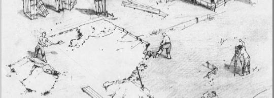 Основные этапы строительства дома из соломенных блоков в рисунках
