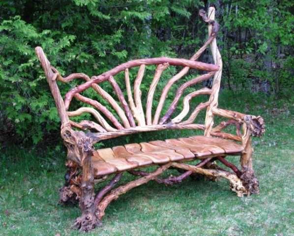 Мебель из дерева своими руками: применяем ветки, сучки и отходы (18 фото)
