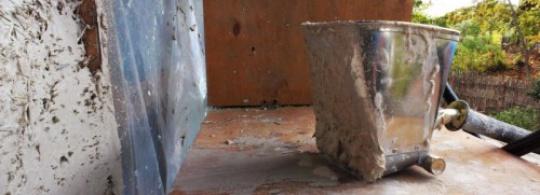 Штукатурная лопата в действии