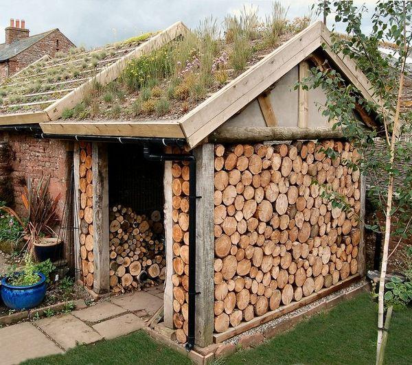 Поленницы для дров (20 фото)