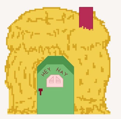 Дом из соломы - стандартное представление