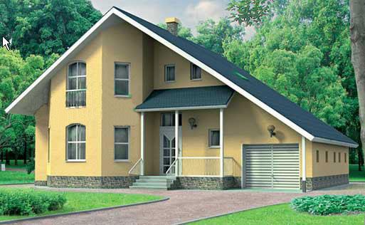 Дом из соломы снаружи - пример