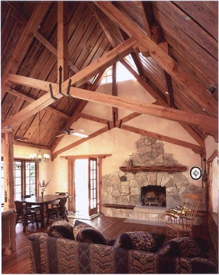Дом из соломы внутри - пример