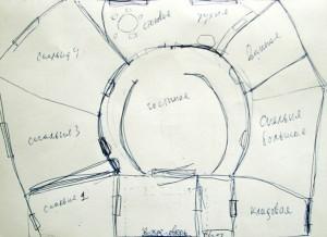 План-схема моего дома из соломы - вариант 1
