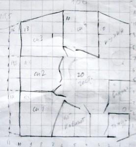 План-схема моего дома из соломы - вариант 2