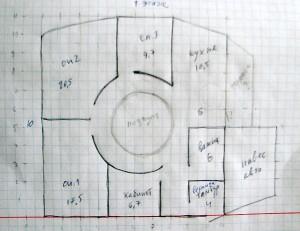 План-схема моего дома из соломы - вариант 3
