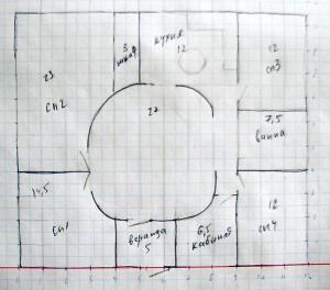 План-схема моего дома из соломы - вариант 4