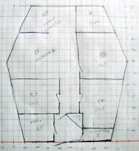 План-схема моего дома из соломы - вариант 5