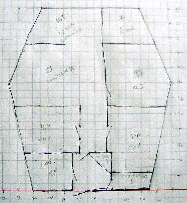 План-схема моего дома из