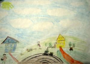 Дети рисуют свой дом