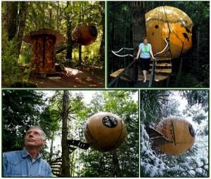 Висящие сферические жилые модули - место, где  рождается свободный дух
