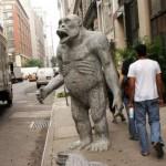 Памятник горилле