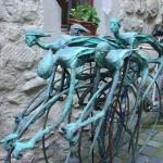 Памятник велосипедистам