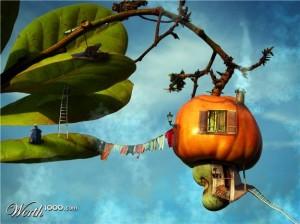 Съедобный домик на дереве