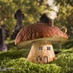 Дом белый гриб