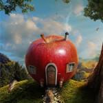 Дом-яблоко