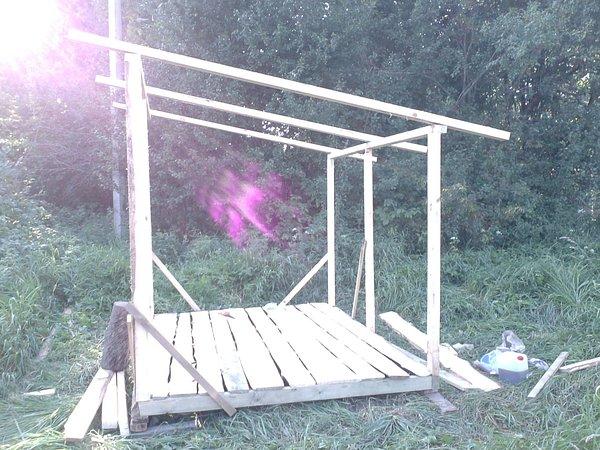 Построить каркасный сарай своими руками видео