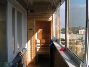 Сауна на балконе? Без проблем! :)