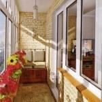 Красивое оформление балкона