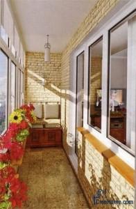 Красивое оформление балкона, мне нравится