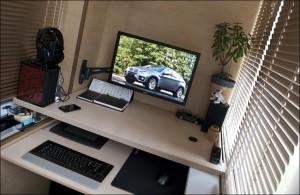 Домашний офис на балконе
