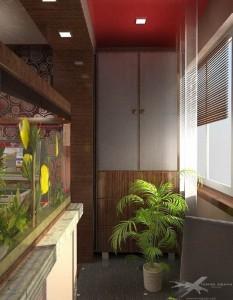 Балкон, интегрированный в комнату
