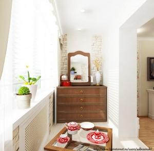Балкон, вписанный в дизайн комнаты