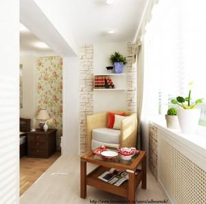 Еще вариант снесенной балконной стенки