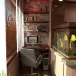 Еще один балкон-кабинет