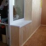 Вариант отделки балконной стенки