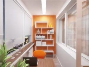Стильный дизайн для балкона