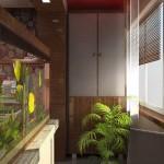 Аквариум отделяет балкон вместо стенки от комнаты