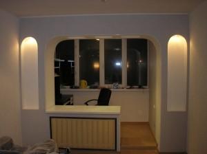 Арка вместо стенки и балконного окна