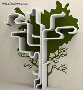 Книжная полка в форме дерева