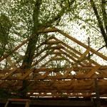 Соломенный летний дом - Бельгия, стропильная система