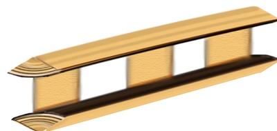 Вариант балки, предназначенной для устройства угла здания
