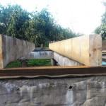 Балки установлены на нижнюю обвязку каркаса на фундаменте