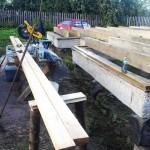 стол и стойки для распила дерева