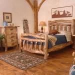 Спальный гарнитур из веток в деревенском стиле