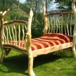 Односпальная кровать в стиле рустик