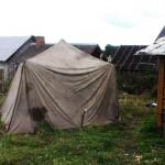 Палатка вместо бытовки