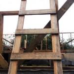 Самодельная деревянная лестница