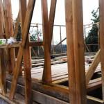 Укосины и начало строительства внутреннего каркаса