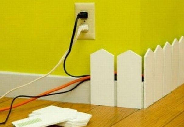 Оригинальный способ спрятать провода