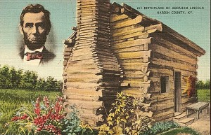 Дом Линкольна на открытке