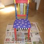 Раскраска старого стула