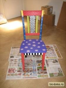 Результат раскраски старого стула