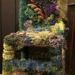 Вязаная накидка для стула