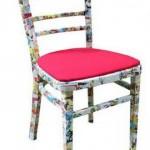 Расрашенный старый стул